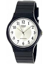 Casio Vintage-Reloj Unisex M 24-7B3 Slim Goma Fácil Lectura Redondo Muñeca