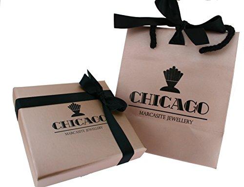 Chicago Marcassite Bijoux Sapphire Marcassite Bague en argent
