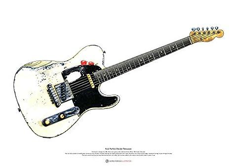 Rick Parfitt Fender Telecaster Gitarre Kunst POSTER A2 Größe