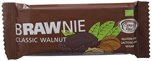 Brownie sin gluten con nueces SIMPLY RAW (16 unidades de 45 gr)