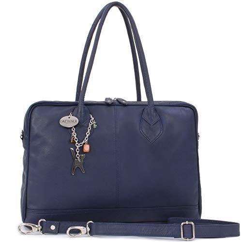 Einfache Linien Collection (Catwalk Collection Handbags - Leder - Umhängetasche/Schultasche/Organizer/Arbeitstasche für Damen/Arbeitstasche A4 - GROSVENOR - Marine Blau)
