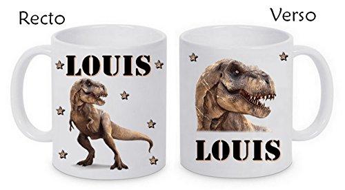 Mug céramique dinosaure personnalisé avec prénom
