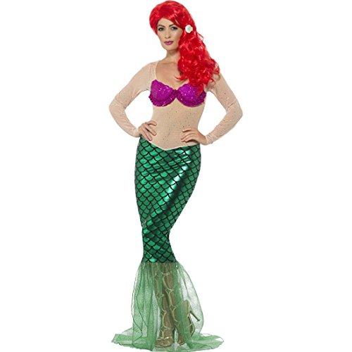 NET TOYS Kostüm Meerjungfrau Mermaid Damenkostüm M (38/40) Meerjungfrauenkostüm Damen Nixe Karnevalskostüm - Nette Dame Kostüm