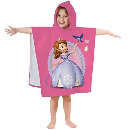 Disney Sofia 042294 Badeponcho the First, Baumwolle velours, 60 x 120 cm