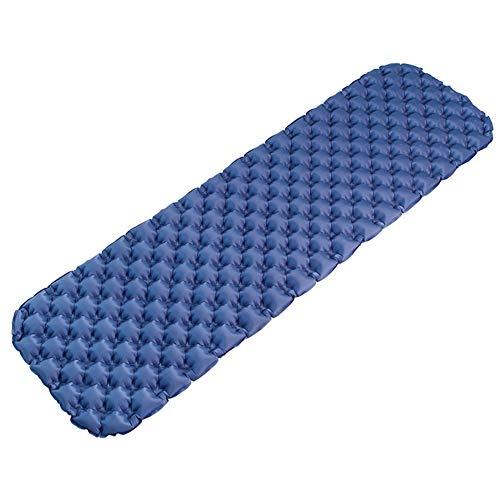 HHMGYH Schlafpladlaster, Camping Mat Inflatable Camping Air Pad Leichtgewicht Roll-Matratze Compact Sleeping Pad für Backpacking, Wandern, Zelt, Hängematte,Blue -