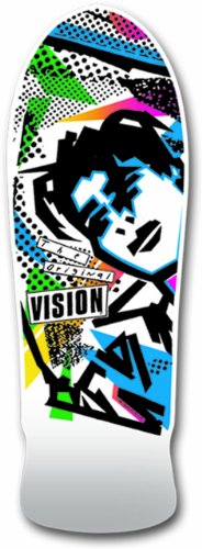 Vision Original MG Neuauflage Skateboard Deck 25,4x 76,2cm, weiß