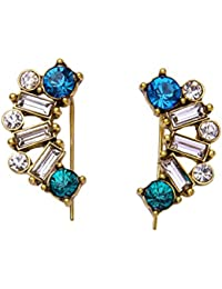 Glitz New Design Unique Geometric Crystal Fashion Stud Earrings For Women