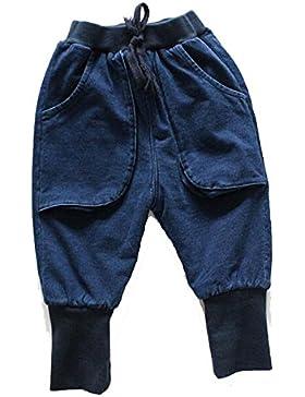 Invierno Grandes De Bolsillo, Además De Terciopelo Pantalones Vaqueros De La Pierna Del Haz De Los Niños