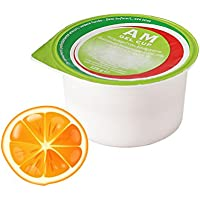 AM Gel Cup acquagel Naranja con Edulcorante–Agua gelificata listo al uso 24tarros de 125g
