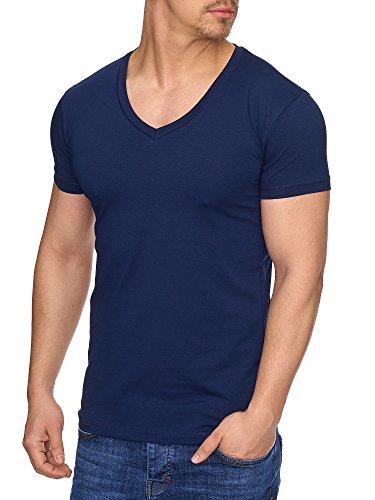 TAZZIO Herren V-Kragen V-Neck T-Shirt 17100