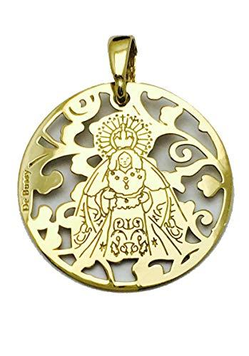 Medalla Virgen de la Macarena en Plata de Ley Cubierta con Oro de 18kt