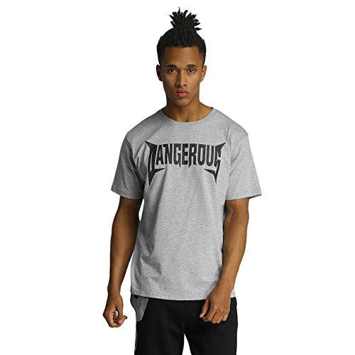 Dangerous DNGRS Uomo Maglieria/T-Shirt methal Grigio