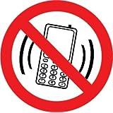 """Autocollant """"Interdit de téléphoner"""" lot de 6 pièces"""