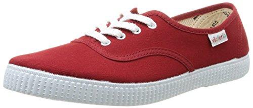 Victoria Inglesa Lona, Herren Sneaker Rot Rouge (Carmin) 38