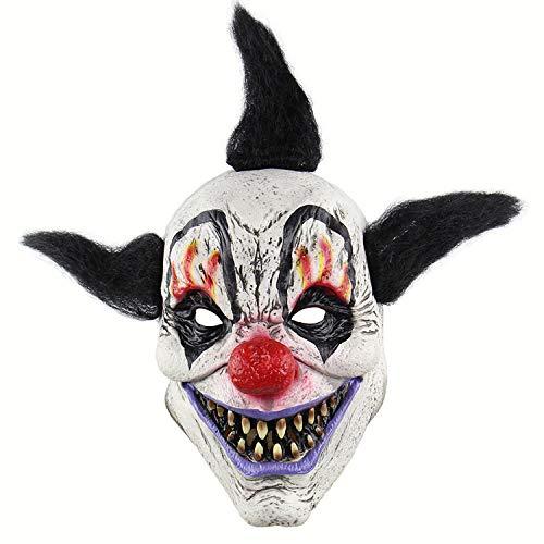 (MIANJU@ Halloween Maske Halloween-Horror-Zauberer-Clown-Maske Spuk Haus-Raum-Flucht Verkleiden Sich Live-Show Scary Head Cover)