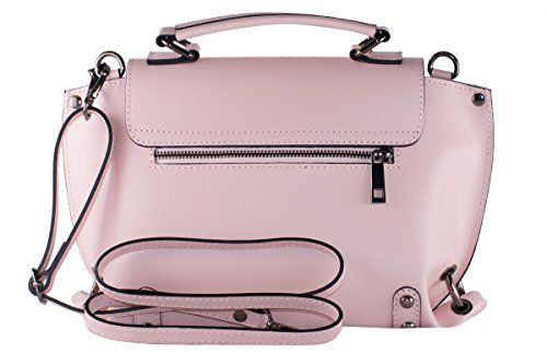 BORDERLINE - 100% Made in Italy - Borsa da Donna in Vera Pelle - EMMA Rosa