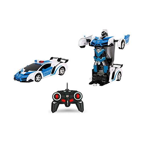 Fernbedienung Auto, 1:18 Kinder Spielzeug Transformers Roboter RC Auto 360 ° Drehung Stunt-Autos Schwerelosigkeit Elektronische Autos Wiederaufladbare Fahrzeuge Spielzeug Spiele für Jungen Jugendliche