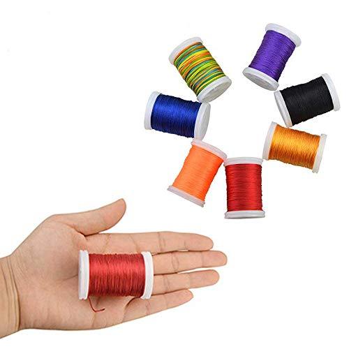 8 Stück Zufällige Farbe Serving Thread Bogen Saiten Schutz String Seil Material Werkzeug Für Reserve Recurve Compoundbogen