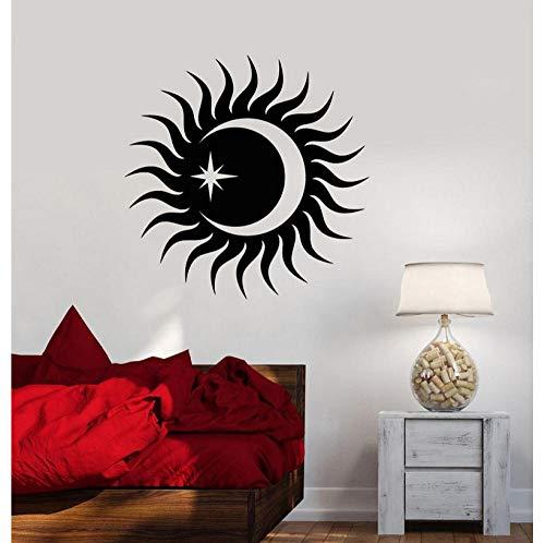 Kreative Wand Vinyl Wand Applique Sonne und Mond Sterne Schlafzimmer Wohnzimmer Wohnkultur Kunst Wandbild Tapete - Badezimmer Sterne Mond Sonne Und