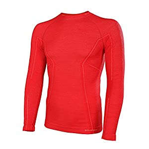 41Bx1GGw5nL. SS300  - BRUBECK Mens Merino Breathable Long-Sleeved Functional Shirt, Thermo Sport Fitness wear
