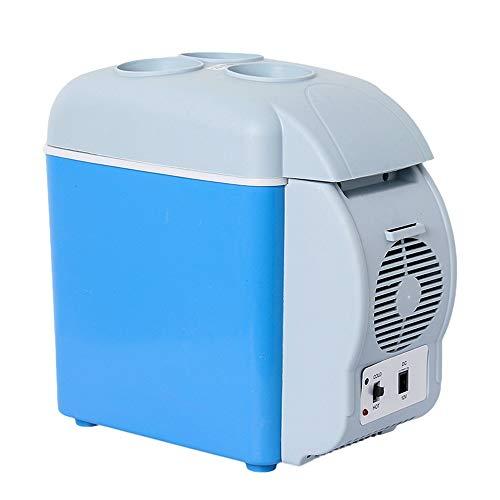 Preisvergleich Produktbild Tragbarer Kühlschrank 7, 5 Liter,  Fahrzeug,  Auto,  LKW,  Wohnmobil,  Boot,  Mini-Kühlschrank mit Gefrierfach zum Fahren,  Reisen,  Angeln,  Outdoor-12V DC Blau