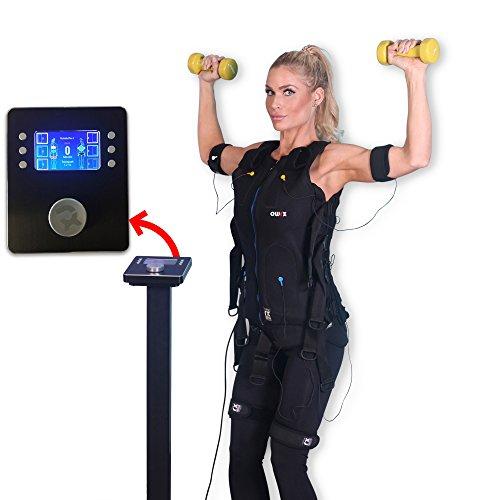 POWRX EMS Trainer I Estación Base Incluye Traje I EMS Entrenamiento Muscular Montaje y reducción de Grasa Corporal I para Hombre y Mujer, Frau I Rot I S