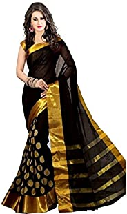 Women's cotton Silk Saree With Blouse Piece (GoliVariat