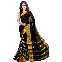 Perfectblue Cotton Silk Saree (Pb0Black Goli_Black)