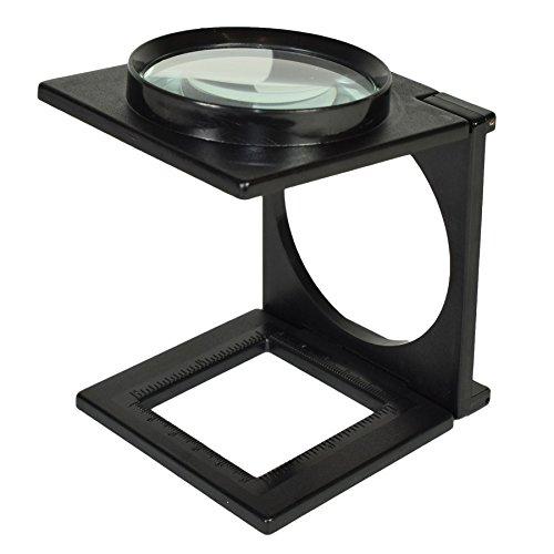 Klappbare klappbare Lupe Lupe Glas Lesehilfe für optische Linsen und Ständer