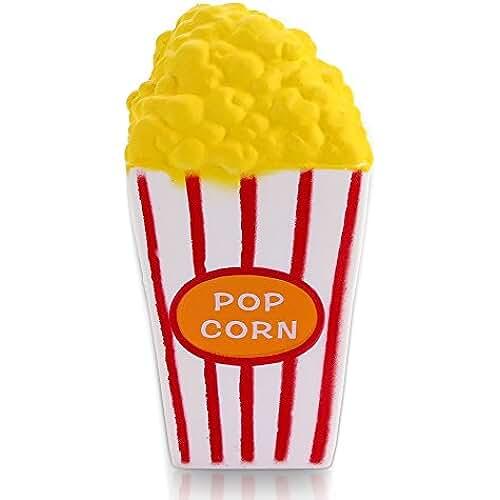 juguetes kawaii VLAMPO Jumbo Squishies Popcorn Cup Slow Rising Squishies Juguetes perfumados Kawaii Squishy Decoration juguetes para niños y adultos 5.7 1 pieza