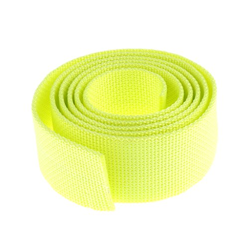 MagiDeal Tauchgewicht Gürtel Bleigurt / Gewichtsgürtel 1,5m zum Tauchen (schöne und auffällige Farben Auswählbar) - Fluoreszenz Gelb