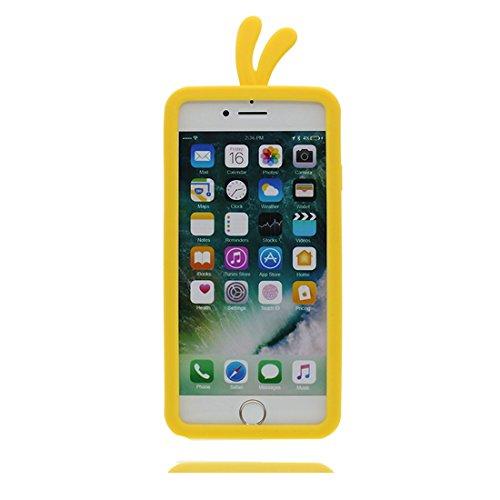 """iPhone 7 Coque, Cover Étui pour iPhone 7 (4.7""""), TPU Flexible iPhone 7 Case (4.7"""") 3D poulet chick Soft Housse Shell Dust Slip Scratch Resistant jaune"""