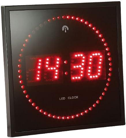 Lunartec LED-Funk-Wanduhr mit Sekunden-Lauflicht durch rote LEDs