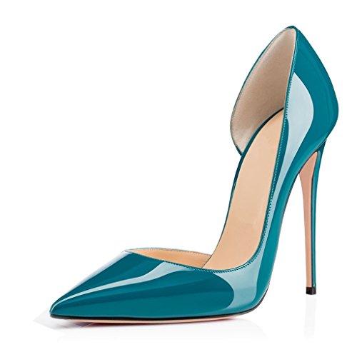 EDEFS - Escarpins Femmes - Chaussures Stilettos - Talon Aiguille - Grande Taille - Soiree Mariage - Taille 35-45 Bleu