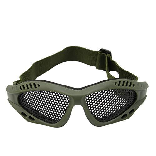 Celan Best Tactical Motorrad Airsoft Augenschutzbrille, Antibeschlag, Metallbrille, Farbe: Armeegrün