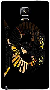 Timpax protective Armor Hard Bumper Back Case Cover. Multicolor printed on 3 Dimensional case with latest & finest graphic design art. Compatible with Samsung Galaxy Note 4 Design No : TDZ-25364