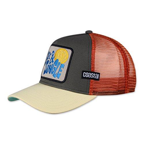 COASTAL - 9FT & Single (olive) - Trucker Cap Meshcap Kappe Mütze Cappy Caps
