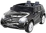 Actionbikes Motors Kinder Elektroauto Mercedes GLS63 Allrad Leder Sitz Kinderfahrzeug Kinderauto 45 Watt 2 Sitzer (Schwarz)