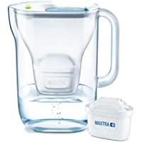 BRITA Style Water Filter, Compatible with BRITA MAXTRA+ Cartridges, Water Filter that Helps with the Reduction of Limescale and Chlorine, in Soft Blue