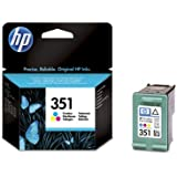 HP No.351 Tri-Colour Inkjet Print Cartridge with Vivera Inks (CB337EE#ABB)