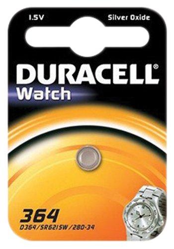 Duracell Uhrenbatterie (364) ///;SR621SW (SR60,AG1,LR621,LR60,164);1 Pack