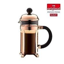 BODUM Chambord Cafetiere 3 Cup French Press Coffee Maker, Copper, 0.35 l, 12 oz