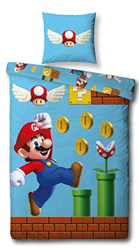 Character World Reversible Juego Cama Super Mario