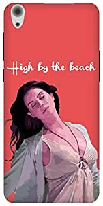 The Racoon Grip High By The Beach Pink hard plastic printed back case / cover for Lenovo S850