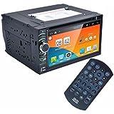 Lacaca 2DIN Radio de coche Android 4.4Stereo Car Dvd Pc reproductor GPS Navi En Dash Navigation unidad central reproductor de vídeo MP3/MP4/GPS/SD/USB/FM/AM Radio estéreo de audio y vídeo