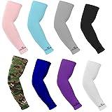 cisi Run Protezione Solare Arm Sleeve Anti Scivolo Anti UV, per bicicletta ciclismo/escursionismo/Golf/Tennis/Pallacanestro/calcio e pesca, Multicolore (8Coppia/Pack)