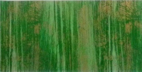 Wachsplatte grün-gold, multicolor 20x10 cm - 9726 - Verzierwachsplatte 200x100 mm für Kerzen