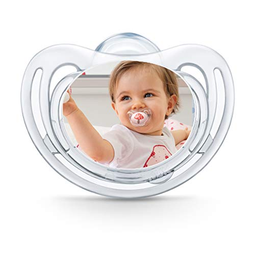 NUK Freestyle Fotoschnuller zum selbst Gestalten, Silikon, BPA-frei, (18-36 Monate, Transparent), ()