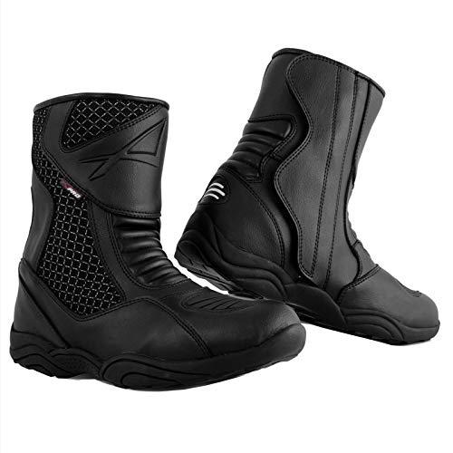 A-Pro Stivaletto Moto Basso Impermeabile Stivali Touring Calzature Turismo Nero 40
