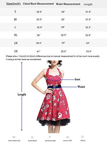 Damen Kleid OTEN 1950er Neckholder Vintage Retro Partykleider ...